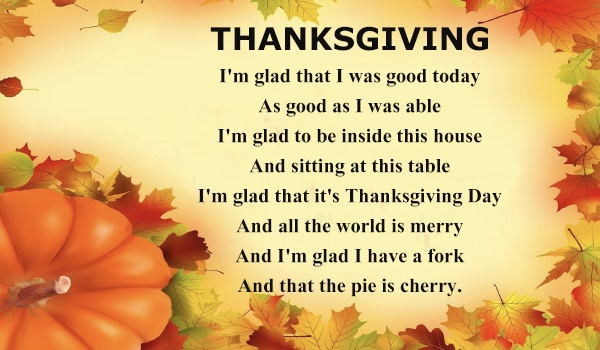 Thanksgiving Poems For Friends