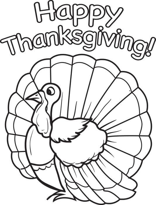 Coloring Pages Of Thanksgiving Turkeys