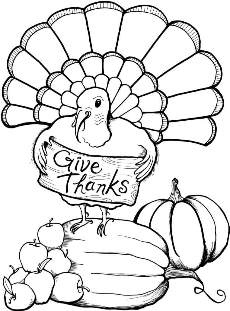 Thanksgiving 2018 Coloring Pages