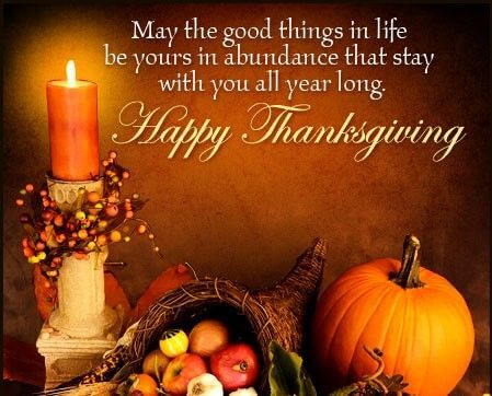 Thanksgiving Greetings 2018