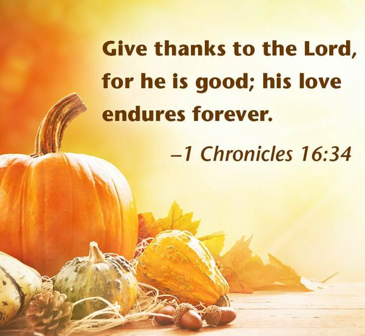 Thanksgiving Verses