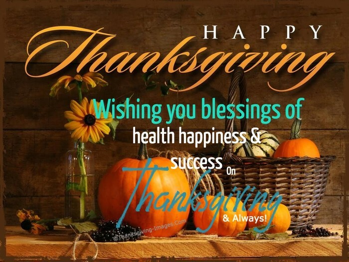 Happy Thanksgiving Wishes