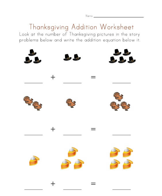 Easy Thanksgiving Math Worksheets