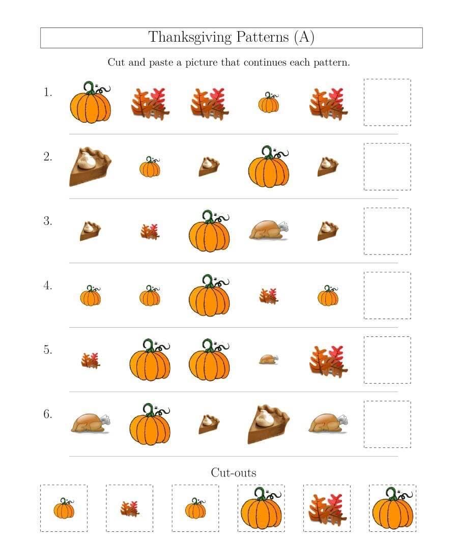 Thanksgiving Math Worksheets 2019